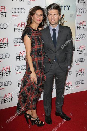 Stock Image of Adam Scott and Naomi Sablan