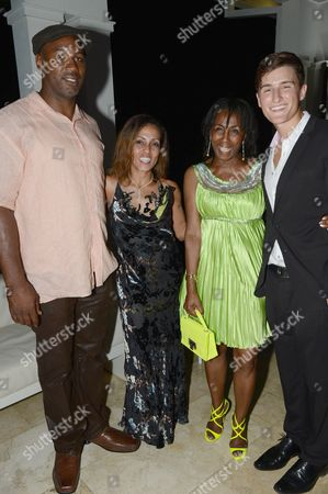 Lennox Lewis, September Marley, Theresa Roberts and Martin Kristensen