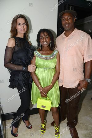 Isabell Kristensen, Theresa Roberts and Lennox Lewis