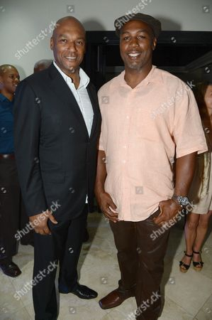 Colin Salmon and Lennox Lewis