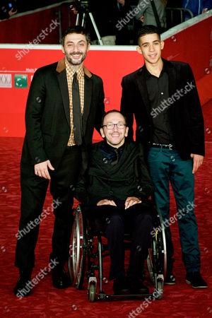 Filippo Timi, director Mirko Locatelli and Jaouher Brahim Ben Fredj