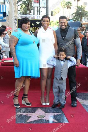 Jennifer Hudson, Julia Hudson, David Otunga and son David Daniel Otunga Jr.
