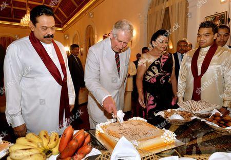 Mahinda Rajapaksa, Prince Charles and Shiranthi Rajapaksa