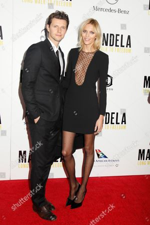 Stock Image of Sasha Knezevic and Anja Rubik