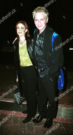 Stock Image of IVA DAVIES OF 'ICE HOUSE AND THE FLOWERS' WITH WIFE TONYA