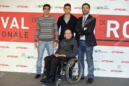 El Farouk Abd Alla (L), Jaouher Brahim (2nd-L), Director Mirko Locatelli (C) and Filippo Timi (R)