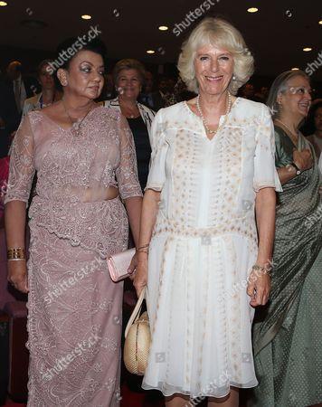 Stock Image of Shiranthi Rajapaksa and Camilla Duchess of Cornwall