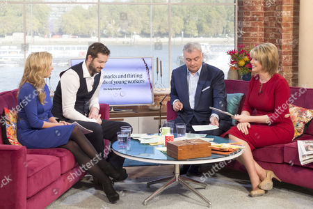 Brooke Kinsella and Stig Abell with Eamonn Holmes and Ruth Langsford.