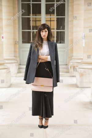 Editorial picture of Street Style, Spring Summer 2014, Paris Fashion Week, France - Sep 2013
