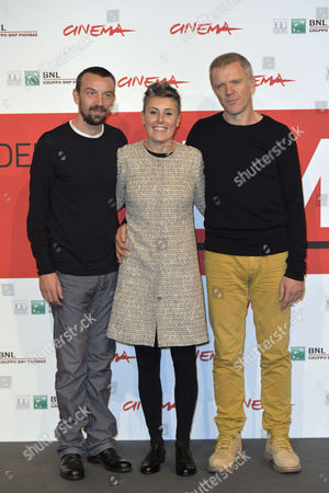 Director Alberto Fasulo with his wife producer Nadia Trevisan, Branko Zavrsan
