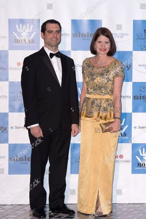 First Lady of Panama Marta Linares and her son Ricardo Linares de Martinelli