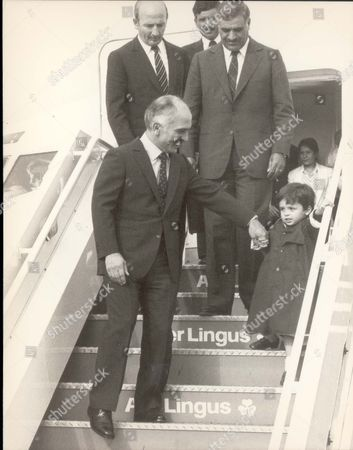 Editorial photo of King Hussein Of Jordan Arrives At Heathrow Tonight With His Son His Royal Highness Prince Hamzah Bin Al Hussein Of Jordan.(born 1980) Pkt 1704a - 122189.