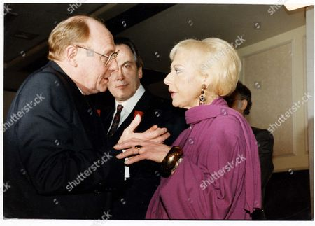 Editorial photo of Neil Kinnock M.p. Leader Of The Labour Party. Pictured L-r: Neil Kinnock Jack Cunningham And Actress Miriam Karlin At The Labour Party Press Conference. Labour Mounted A Campaign Blaming Nhs Cuts For A Baby's Death Despite Knowing That The Hospital