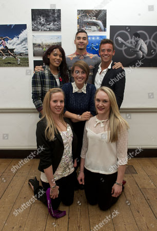 The Magnificent Seven Athletes At The Project Celebration Night. The Athletes Progress Has Been Followed By The Daily Mail For The Last Seven Years. Back L-r: Shanaze Reade Louis Smith And Tom Daley Centre: Emily Pidgeon And Front L-r: Louise Watkin And Gemma Howell. (giles Scott Was Absent).