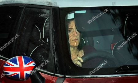 Stock Photo of Bradley Wiggins Cycle Accident With A White Astra Van.- Wife Cath Wiggins Arrives Home After Visiting The Royal Preston Hospital.