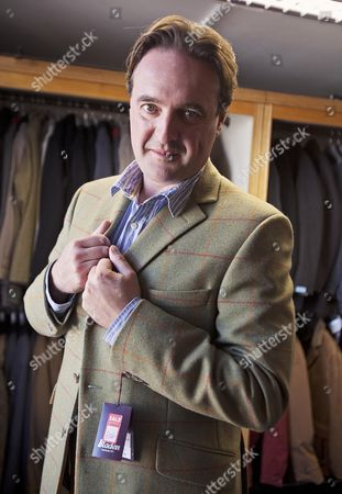 Daily Mail Feature Writer Guy Walters At The Famous Gentleman's Outfitters In Cheltenham Which Is Closing Down After 126 Years.