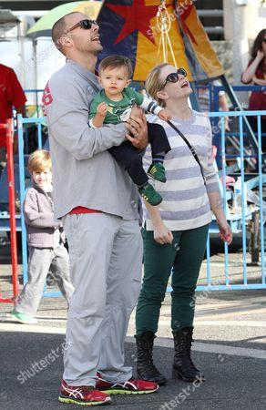 Melissa Joan Hart, Mark Wilkerson and son Tucker McFadden