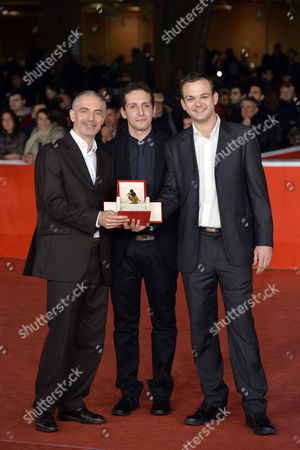 Stock Photo of Prize Taodue for the best emerging producer to Sebastien Msika, Jean Denis Le Dinahet and Fabio Mollo