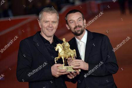 Alberto Fasulo Branko Zavrsan with the award for the best film