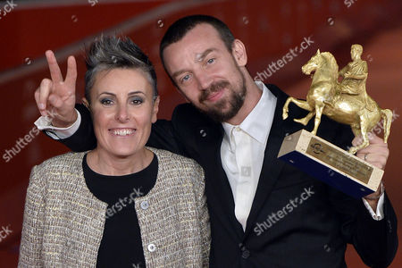 Alberto Fasulo and Nadia Trevisan with the award for the best film