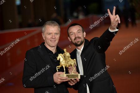 Alberto Fasulo and Branko Zavrsan with the award for the best film