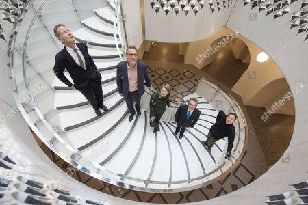 Sir Nicholas Serota, Director of Tate; Peter St John; Penelope Curtis, Director, Tate Britain; Lord John Browne; Adam Caruso