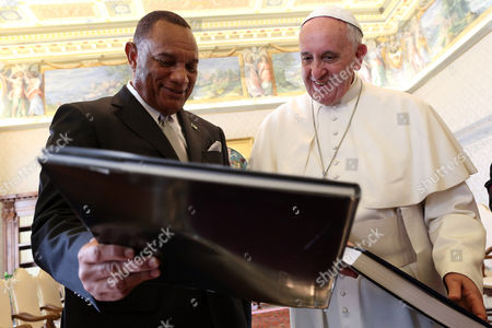 Perry Christie with Pope Francis I