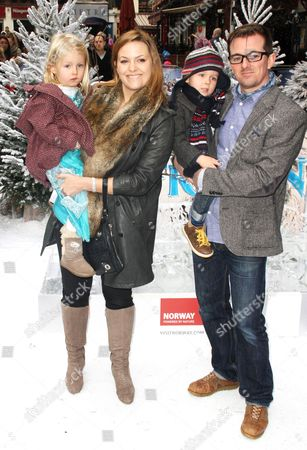 Jo Joyner and Neil Madden with their children