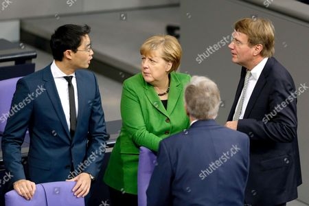 Philipp Roesler, Angela Merkel, German Chancellor and Ronald Pofalla (CDU), German Chancellery Minister.