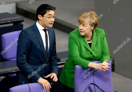 Philipp Roesler, Angela Merkel