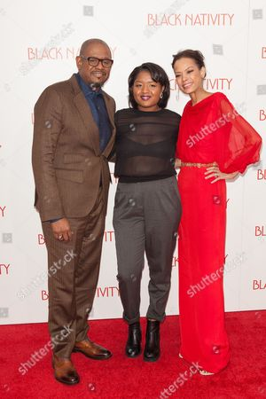 Stock Picture of Forest Whitaker, daughter Sonnet Whitaker and wife Keisha Nash Whitaker