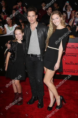 Peter Facinelli and daughters Lola Ray Facinelli and Luca Belle Facinelli
