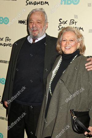 Stock Image of Stephen Sondheim and Barbara Cook