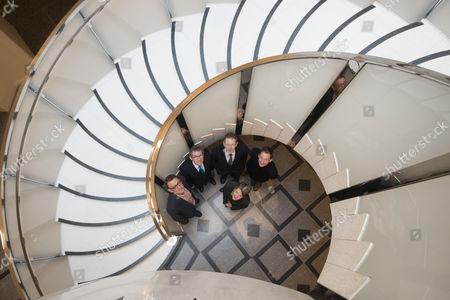 Stock Photo of Sir Nicholas Serota, Director of Tate; Peter St John; Penelope Curtis, Director, Tate Britain; Lord John Browne; Adam Caruso