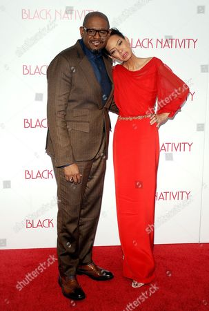 Stock Image of Forest Whitaker and Keisha Nash Whitaker