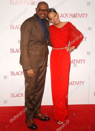 Stock Photo of Forest Whitaker and Keisha Nash Whitaker