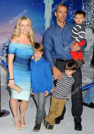Melissa Joan Hart, Mark Wilkerson and sons Mason Walter Wilkerson, Brady Hart Wilkerson, Tucker McFadden Wilkerson
