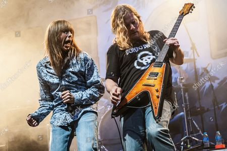 Tesla  - Jeff Keith and Frank Hannon at the Hard Rock Hell Festival in Rotherham
