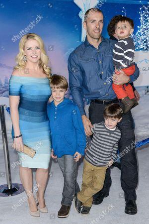Stock Photo of Melissa Joan Hart, Mark Wilkerson and sons Mason Walter Wilkerson, Brady Hart Wilkerson, Tucker McFadden Wilkerson