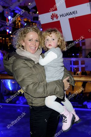 Lucy Benjamin and daughter