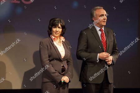 Christiane Amanpour and James Mates