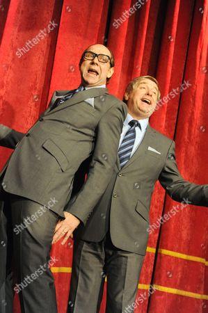 Jonty Stephens as Eric Morecambe, Ian Ashpitel as Ernie Wise