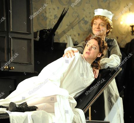 Flora Montgomery as Sabrina, Sarah Woodward as Annie