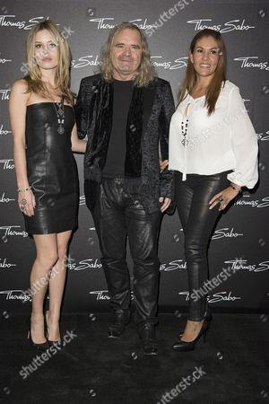 Georgia May Jagger, Thomas Sabo and wife Luz Enith Sabo