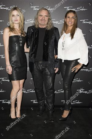 Stock Image of Georgia May Jagger, Thomas Sabo and wife Luz Enith Sabo