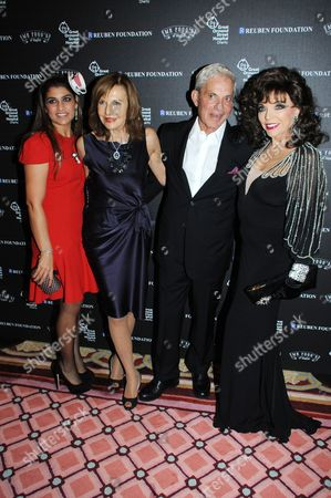 Lisa Reuben, Joyce Reuben, Simon Reuben and Joan Collins