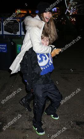 Stock Image of Elle MacPherson and son Aurelius Busson