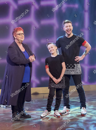 Tobias Mead and Jak with Jo Brand
