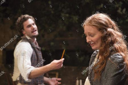 Tom Bateman as Dante Gabriel Rossetti and Emma West as Lizzie Siddal