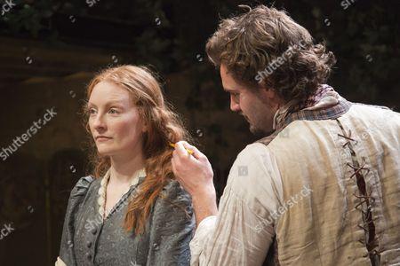 Stock Image of Tom Bateman as Dante Gabriel Rossetti and Emma West as Lizzie Siddal